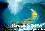 Red Sea closing on army in Old Testament outline of the Bible